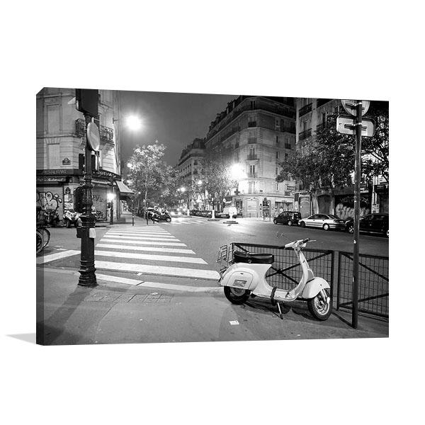 Paris France at Night Art Print