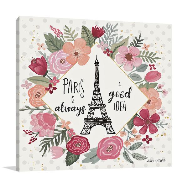 Paris is Blooming IV Wall Art Print