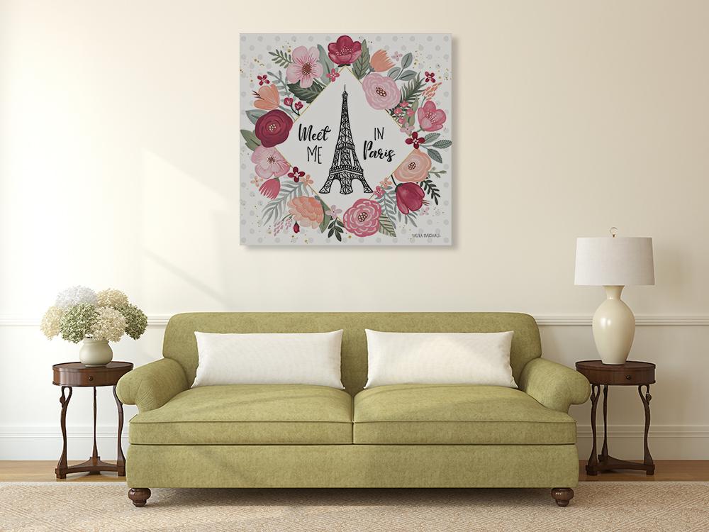 Square Floral Canvas Art Print