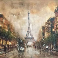 Hand Painted Paris Oil Paintings on Canvas