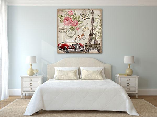Paris Retro Print Artwork