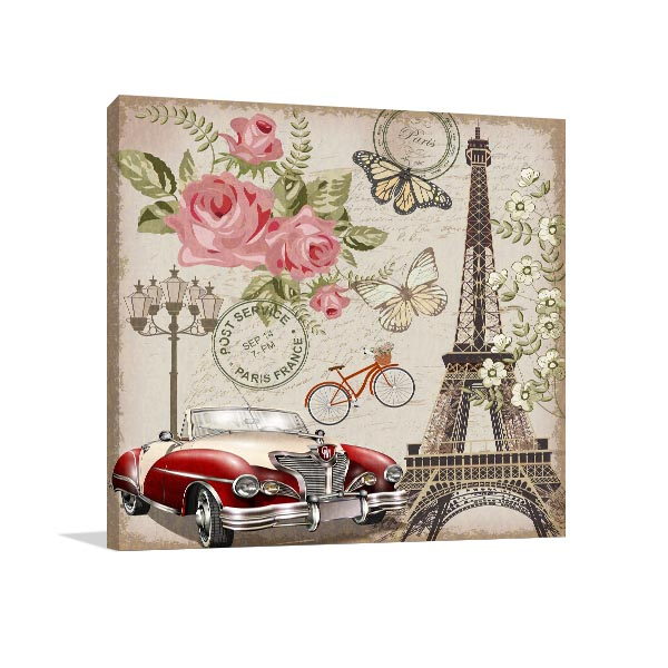 Paris Retro Wall Art