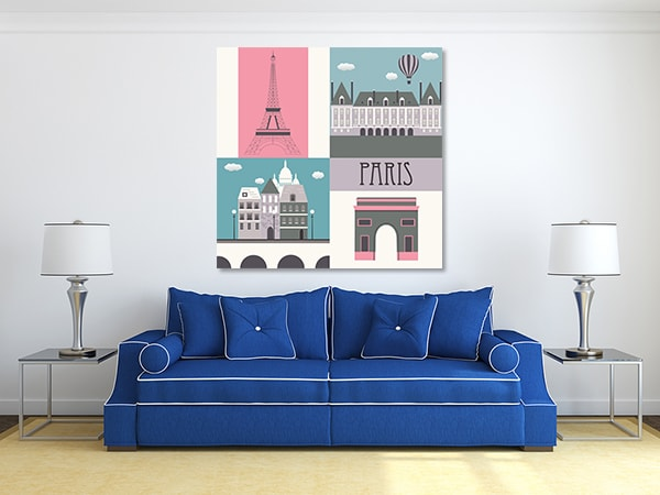 Paris Symbol Canvas Prints