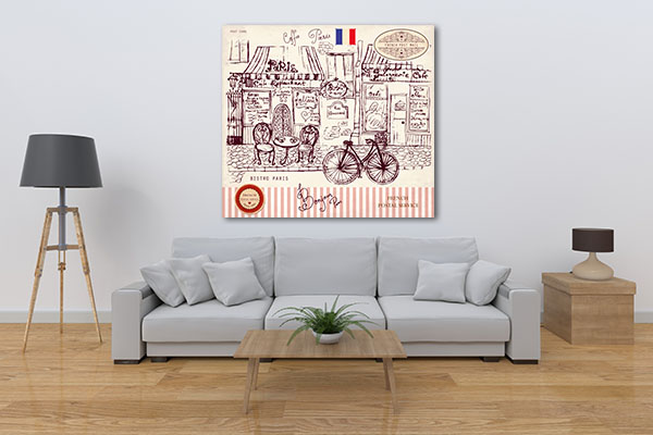 Paris Symbols Canvas Prints