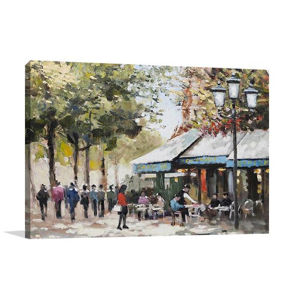 Paris Teal II Wall Print | E. Anthony Orme