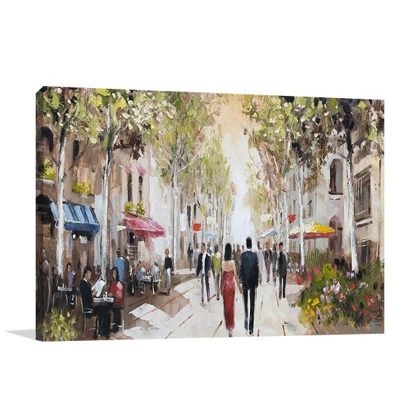 Paris Teal III Print Canvas