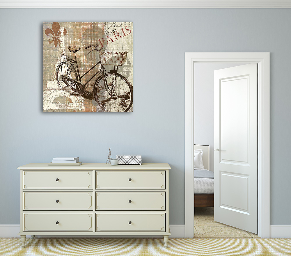 Bicycle Print Art Canvas