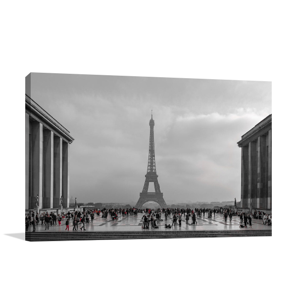 Paris With Red Wall Art Print