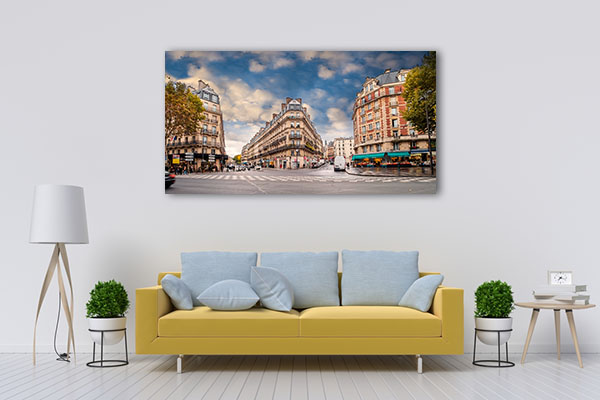 Parisians in Daylight Prints Canvas