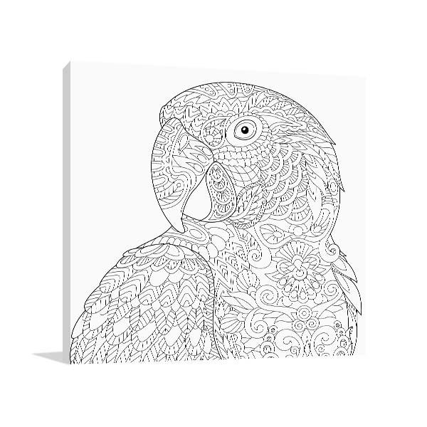 Parrot Head Wall Art