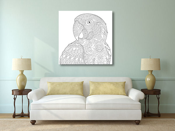 Parrot Head Canvas Prints