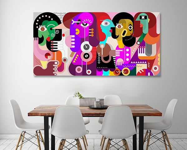 Partying Canvas Print Art Canvas on the Wall
