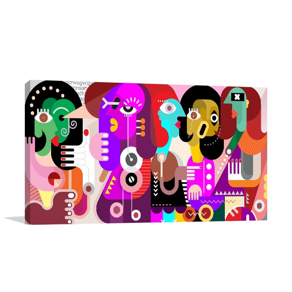 Partying Canvas Artwork