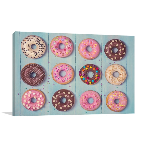 Pastel Donuts Print Artwork