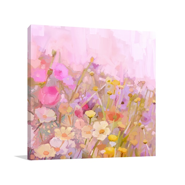 Pastel Flowers Canvas Artwork