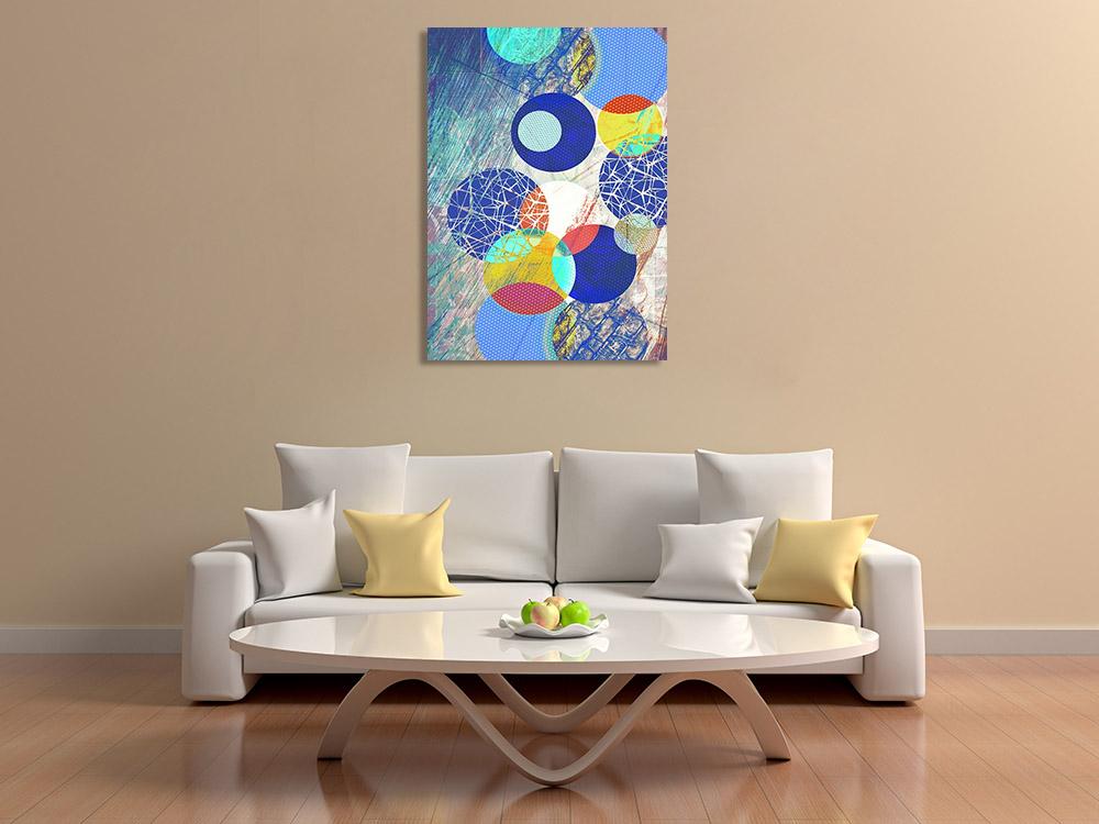 Circles Abstract Pattern Canvas Art