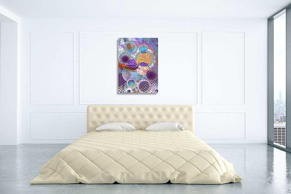 Purple and Pink Pattern Art Print