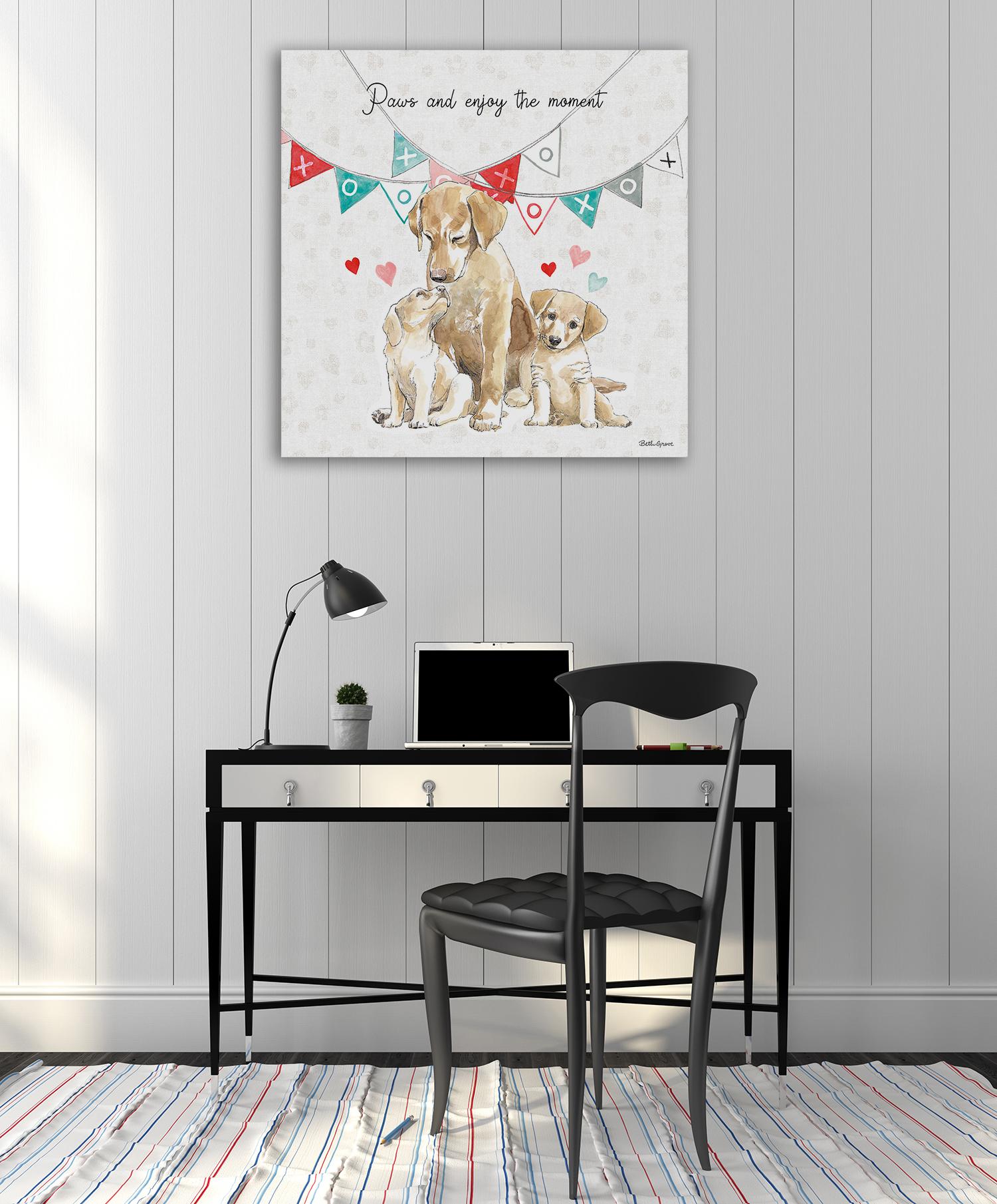 Dogs Art Print on Canvas