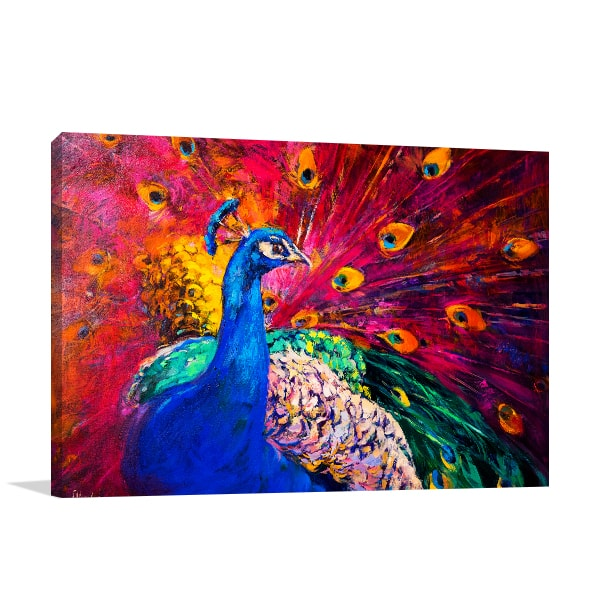 Peacock Beauty Art Print Canvas Art