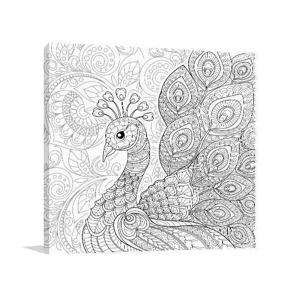 Peacock Feathers Canvas Art Prints