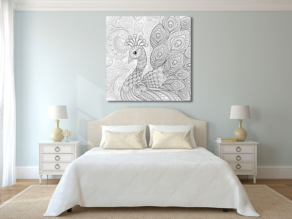 Peacock Feathers Wall Art