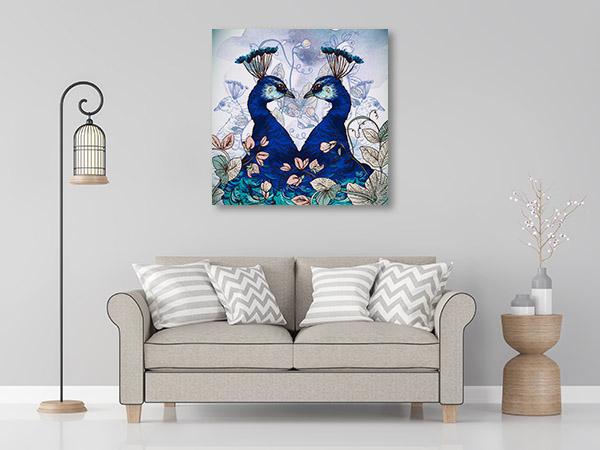 Peacock Indian Beauty Art Prints