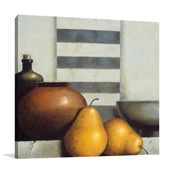 Pear Still Life Print on Canvas