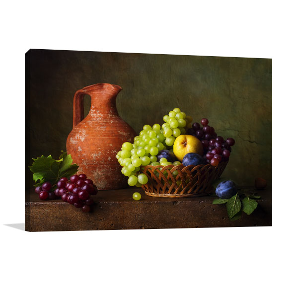 Pears and Grapes Art Prints