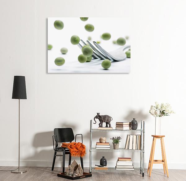Peas Fork Canvas Art Prints