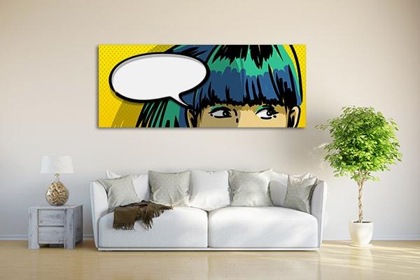 Pensive Girl Art Print on the Wall