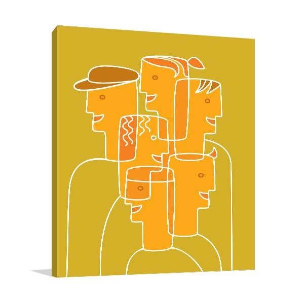 People Cubism Canvas Art Prints