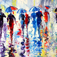 Hand Painted People Oil Paintings on Canvas