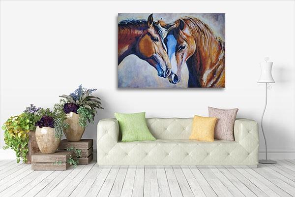 Perfect Horse Mate Canvas Art Print Artwork