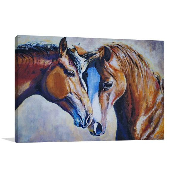 Perfect Horse Mate Canvas Art Print Print Artwork