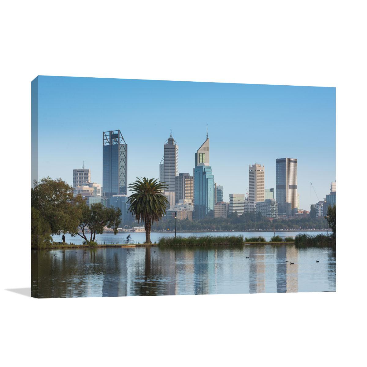 Perth Across the Water Art Print