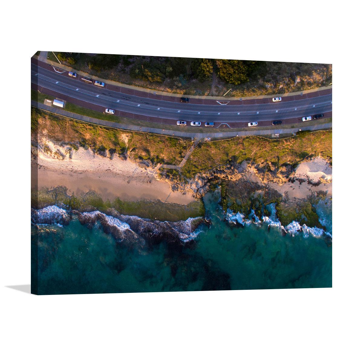 Perth Art Print Rocky Reef Coastline