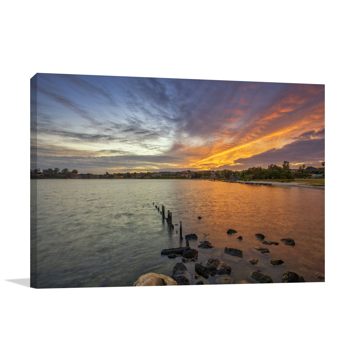 Perth Art Print Swan River