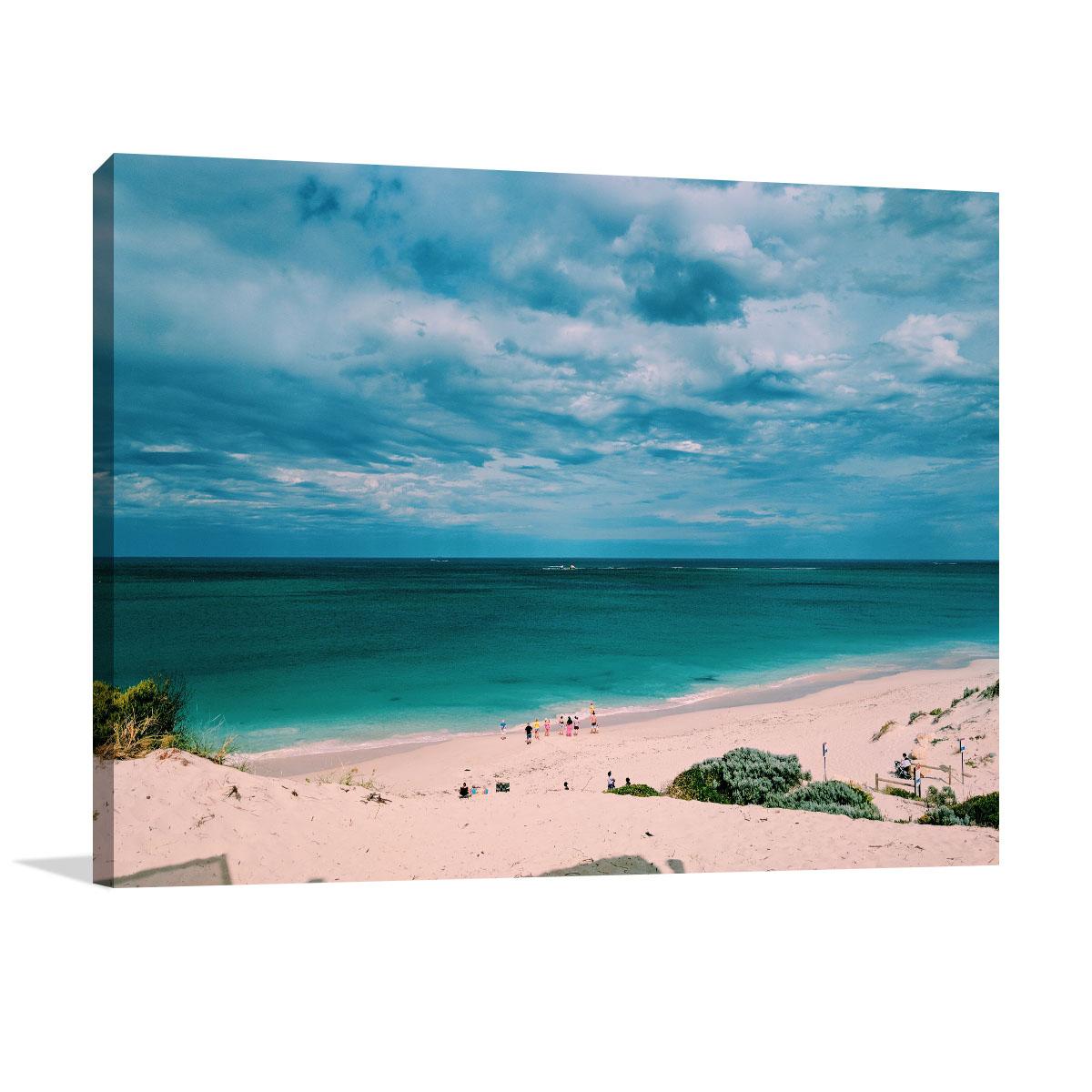 Perth Canvas Art Print Summer Beach