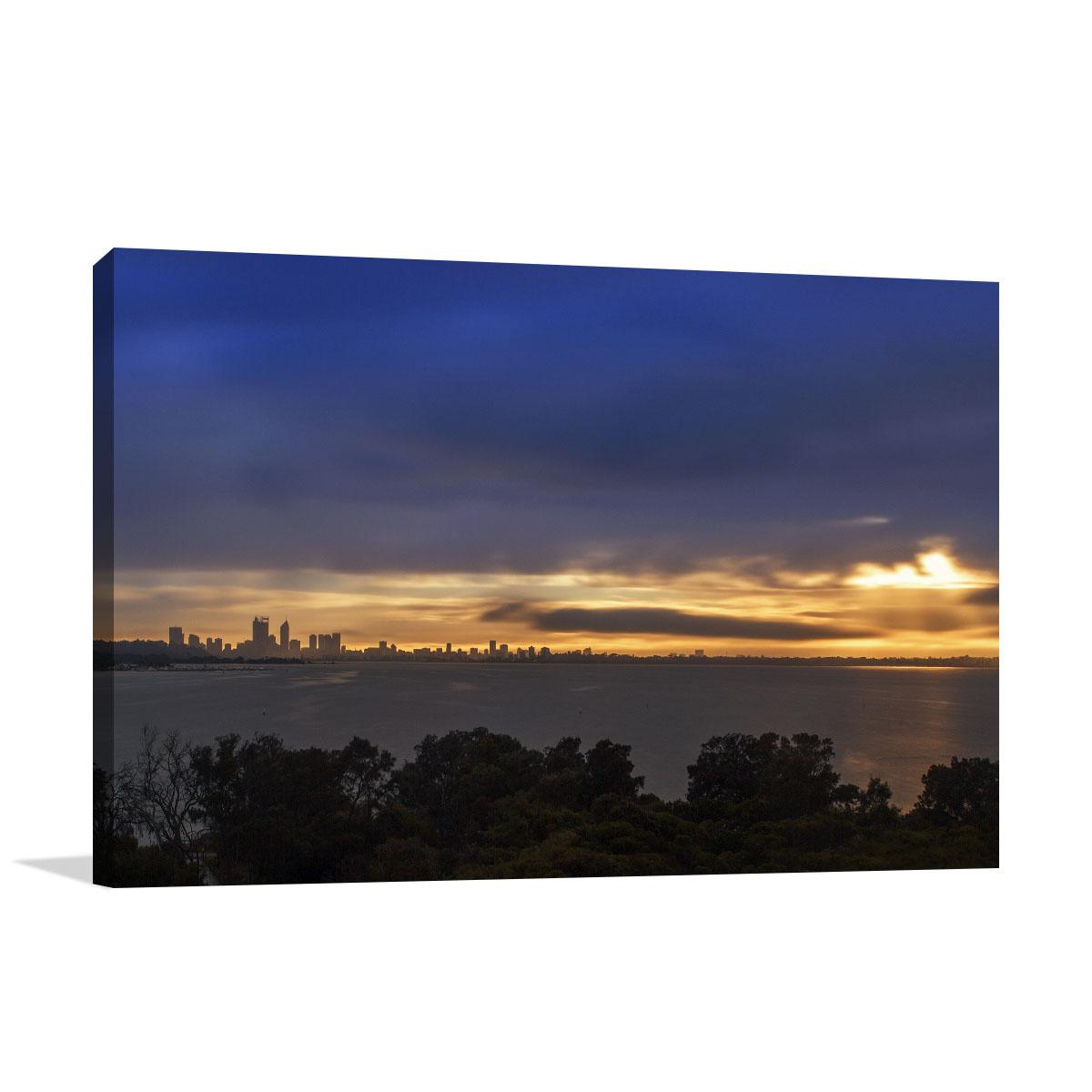 Perth City Art Print Attadale Sunrise