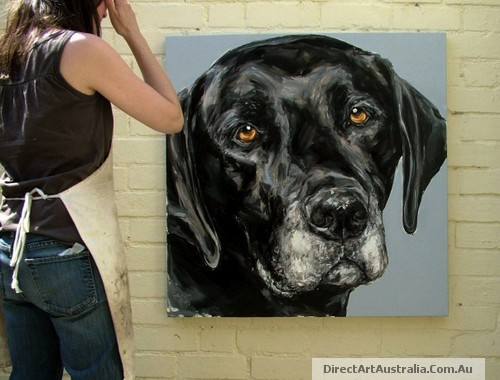Buy Hand Painted Custom Pet Portraits Direct Art
