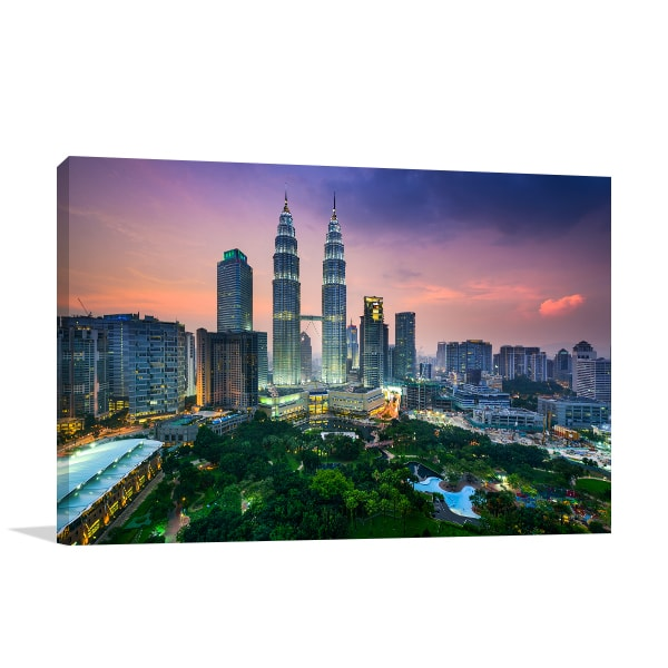 Petronas Towers Wall Art Print Canvas Art