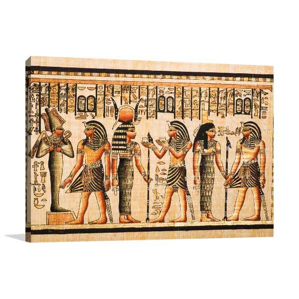 Pharaoh Tutankhamen Canvas Art Prints