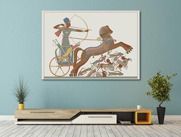 Pharaoh Combat Canvas Prints