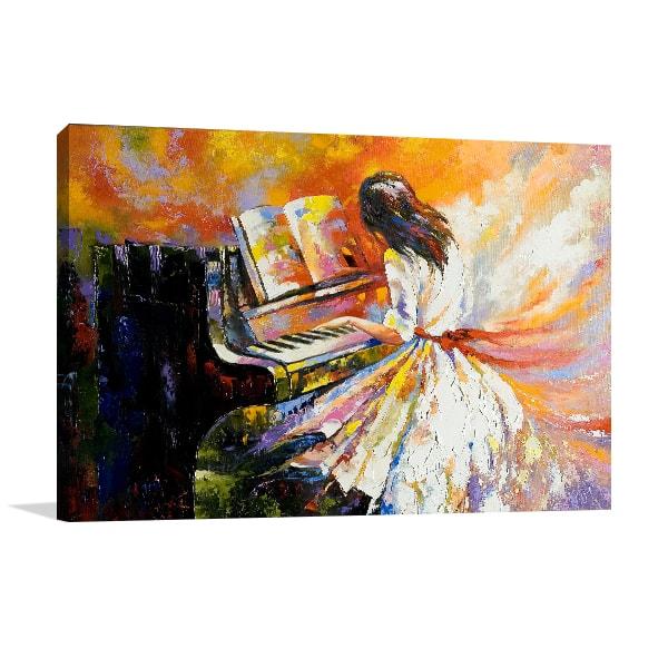 Pianist Prints Canvas