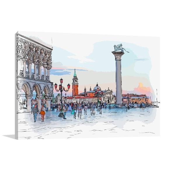 Piazaa San Marco Canvas Art Print