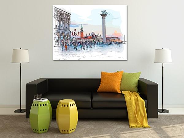 Piazaa San Marco Print Art Canvas on the Wall
