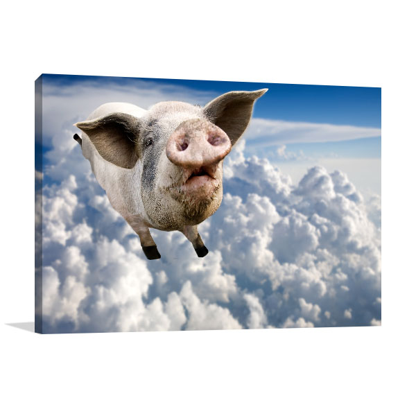 Pig in the Sky Canvas Art