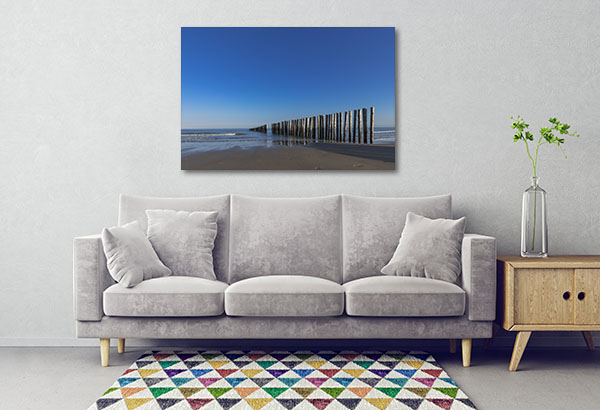 Piles At A Lonesome Beach Artwork
