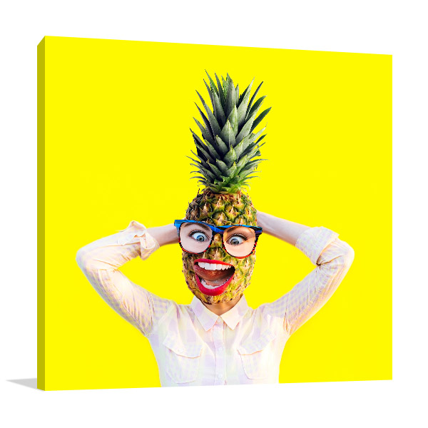 Pineapple Head Wall Art