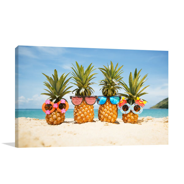 Pineapples At Tropical Island Canvas Art Prints